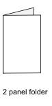 2 Panel Folding DVD Insert