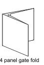 4 Panel Gate Fold Insert