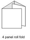4 Panel Roll Fold Insert