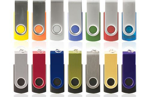Custom Branded Usb Flash Drives - Swivel Usb Flash Drive colors available